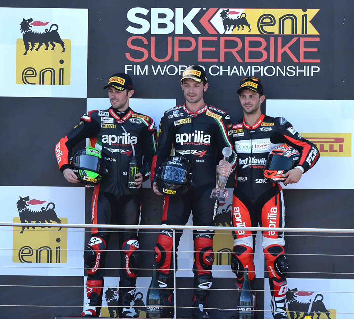 Phillip Island podium photo World Superbike 2013