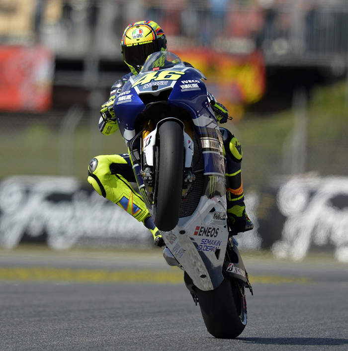 Valentino Rossi action