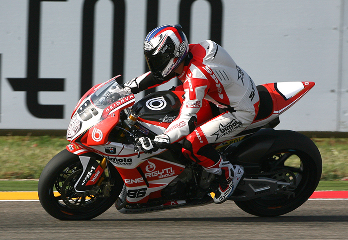 Aryton Badovini Alstare bimota race action photo