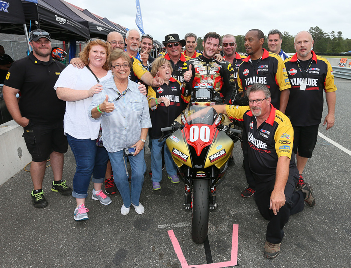 Jake gagne 2014 AMA Supersport Champion Team Photo