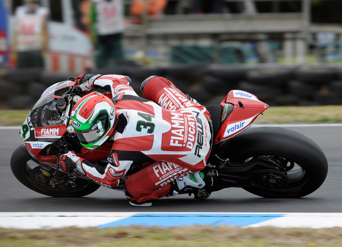 Davide Giugliano action race photo SBK Ducati
