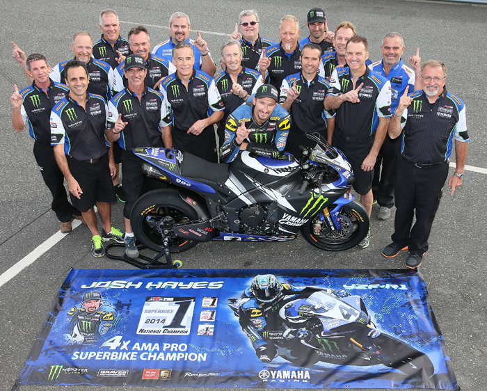 Josh hayes 2014 AMA Superbike Champion Team photo