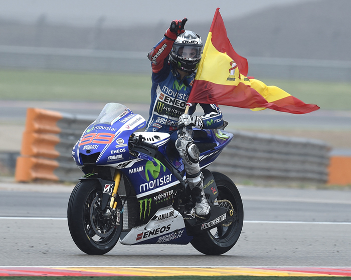 Jorge Lorenzo Aragon MotoGP action photo