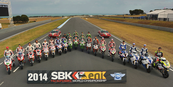 2014 SBK Rider group photo