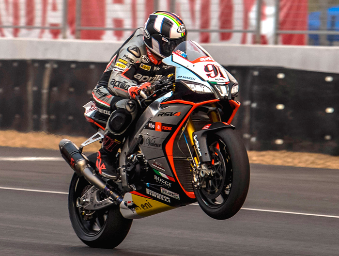 Leon haslam action photo Aprilia Thailand