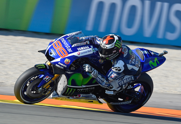 Jorge Lorenzo action photo Valencia MotoGP