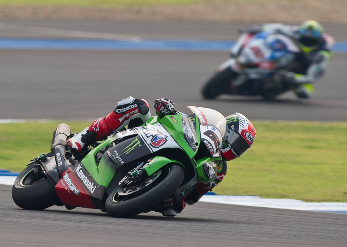 Rea Lowes race action photo SBK Thailand 2015