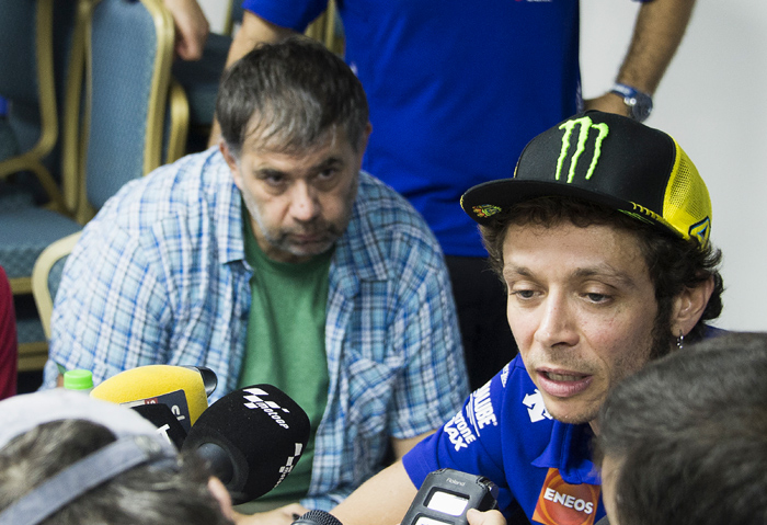 Valentina Rossi talks to the media at Sepang MotoGP 2015
