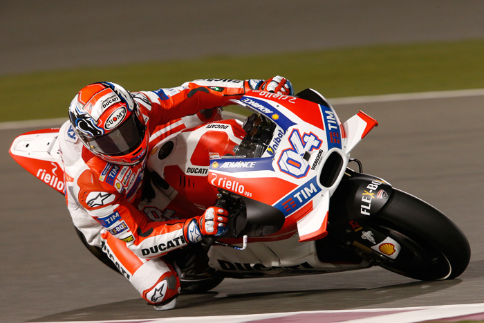 Dovizioso action Qatar