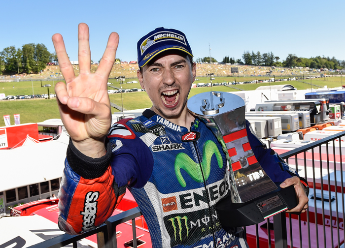 Lorenzo MotoGOP podium photo Mugello