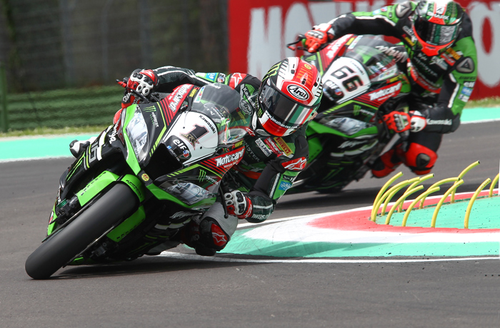 Jonthan Rea, Tom Sykes, race action Imila Superbike SBK 2016