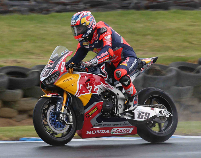 Nicky Hayden Honda Phillip Island 2017 action photo World Superbike