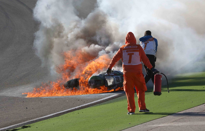 Tom Skes crash Portimao
