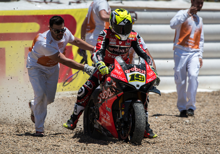 Bautista crash gravel trap Jarez World superbike 2019