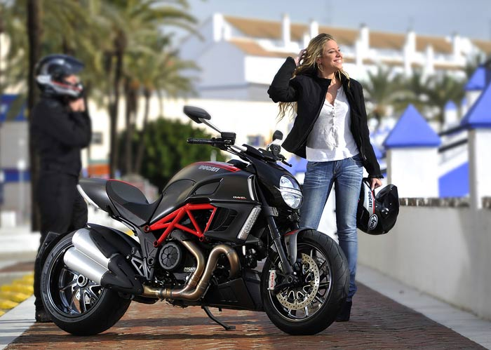 Ducati Diavel test in Bologna iItaly