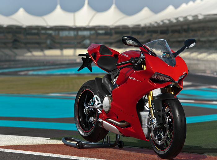 Ducati 1199S Superbike test picture