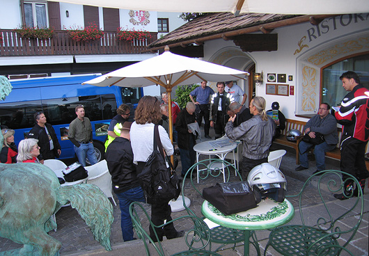 Edelweiss Motorcyclist Alps Challenge motorcycle tour riders meeting