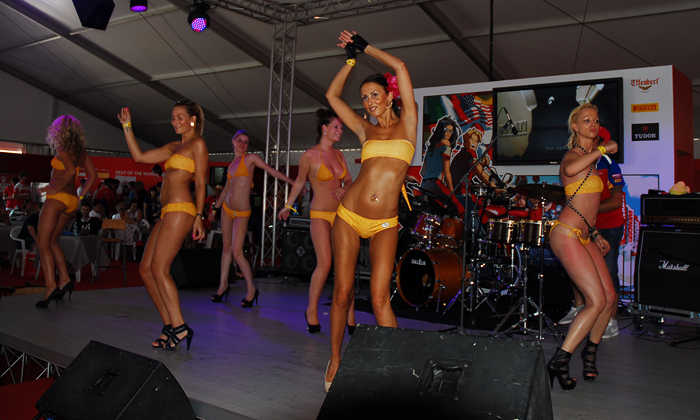 World Ducati Week 2012 dancing girls photo