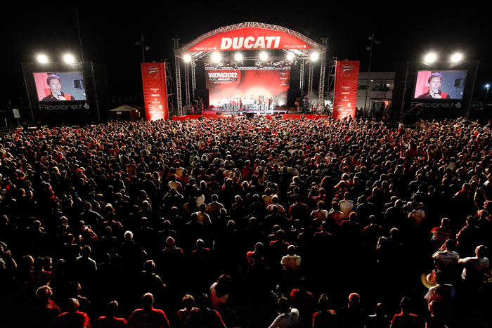 World Ducati Week 2012 main sage crowd photo